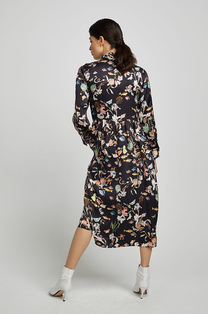 LONG BUTTON FRONT SHIRT DRESS ANAMALIA