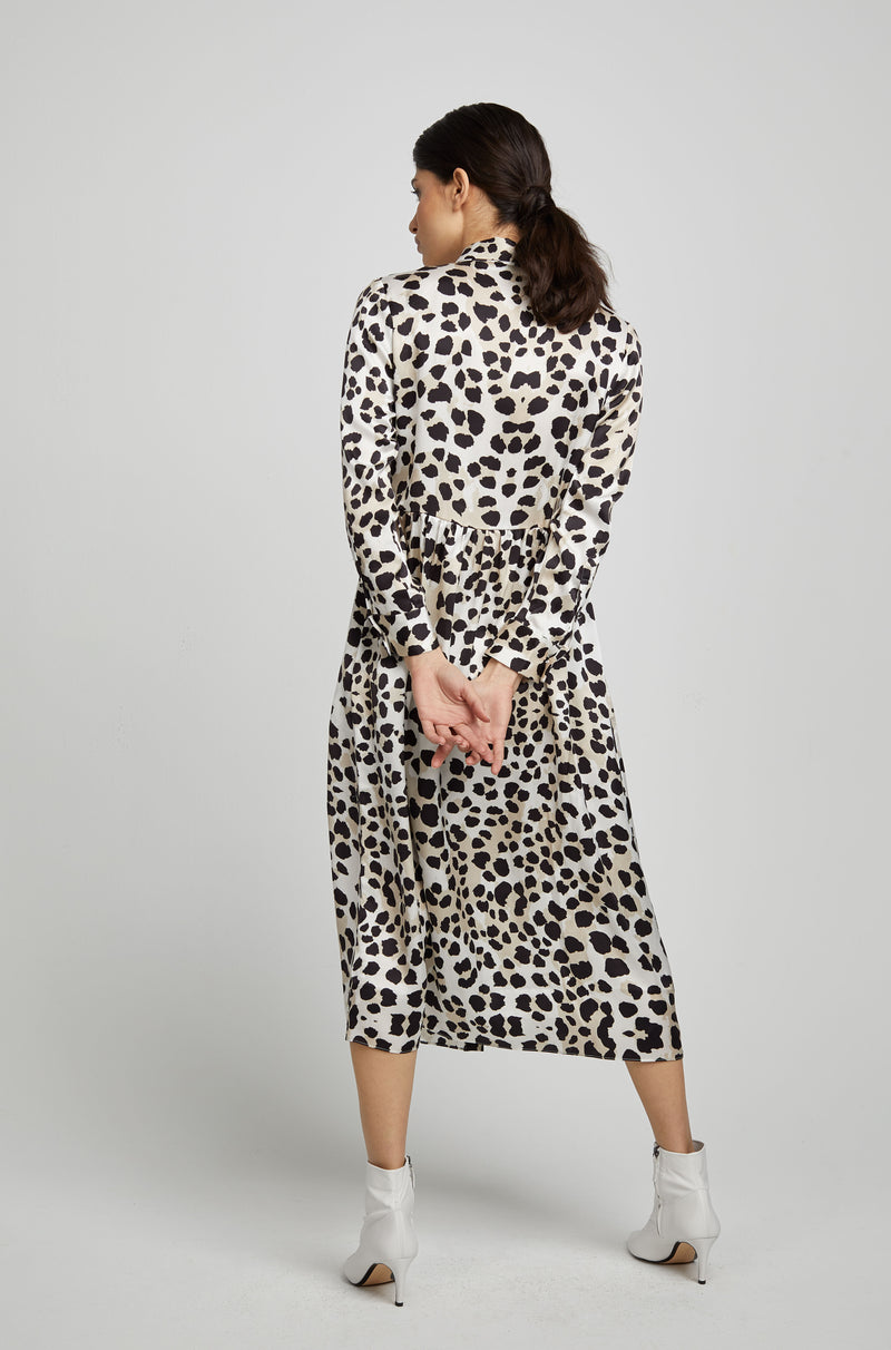 LONG BUTTON FRONT SHIRT DRESS DE VIL
