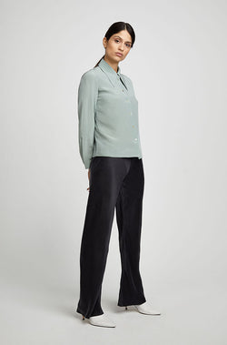 SHARP COLLAR SHIRT EUCALYPTUS