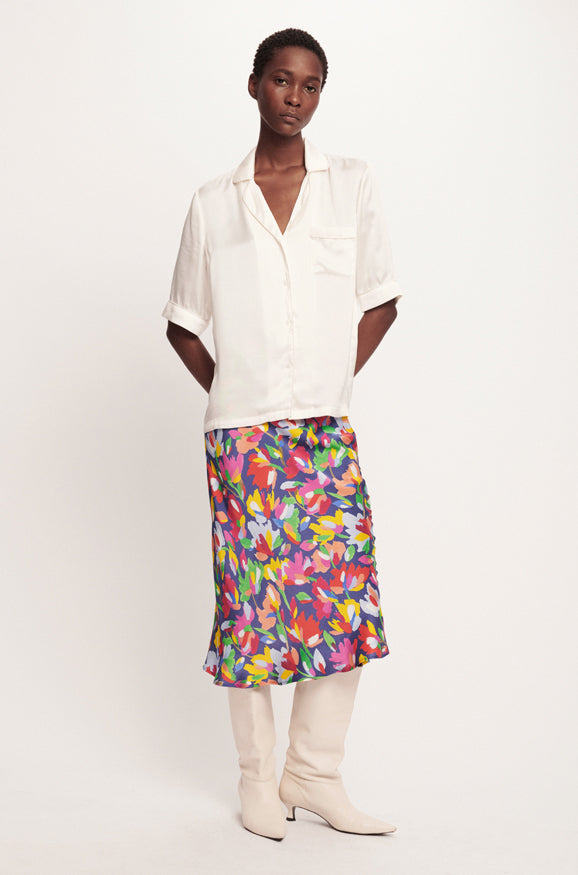 BIAS CUT SKIRT AQUARELLE