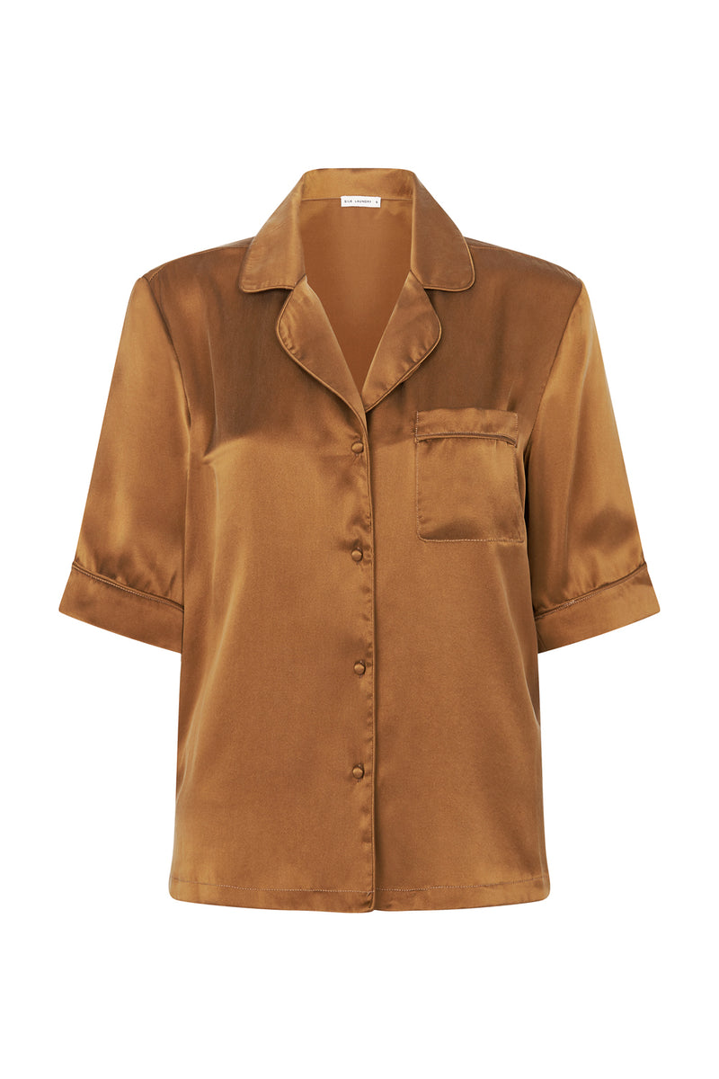 PIPED SHIRT TOFFEE