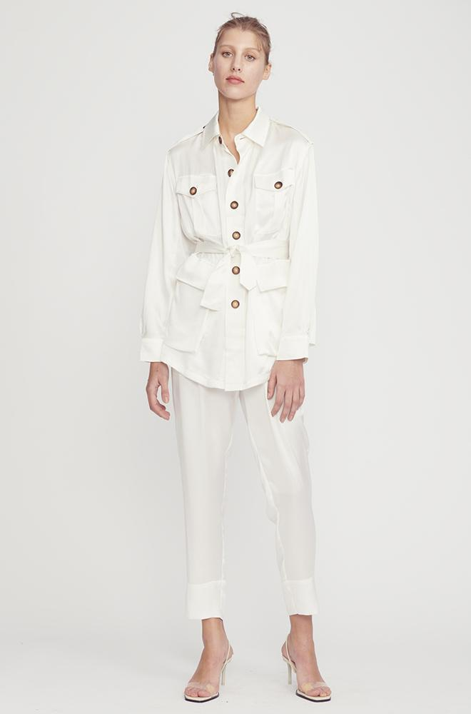 ALMOST A MILITARY JACKET WHITE