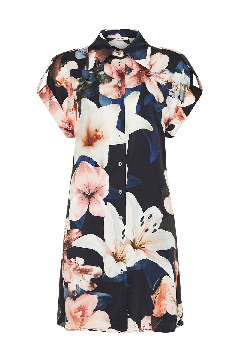 DROP SHOULDER 60S DRESS LILIES