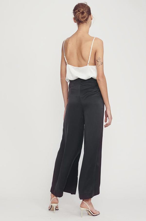 TAILORED PANT WITH ZIP IN BLACK
