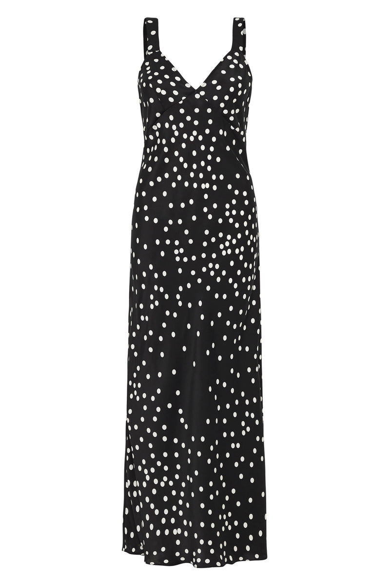 DECO SLIP DRESS BROKEN DOT