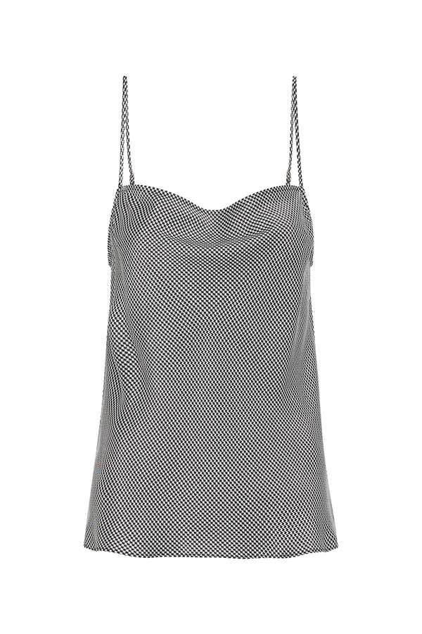 STRAIGHT NECK CAMI HOUNDSTOOTH