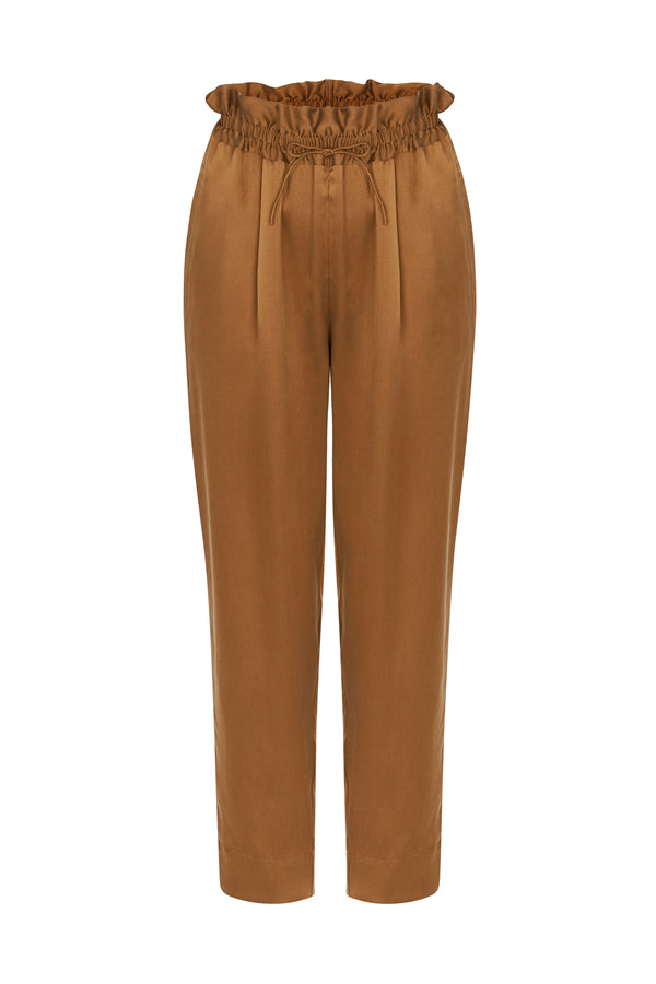 DRAWSTRING PANTS TOFFEE