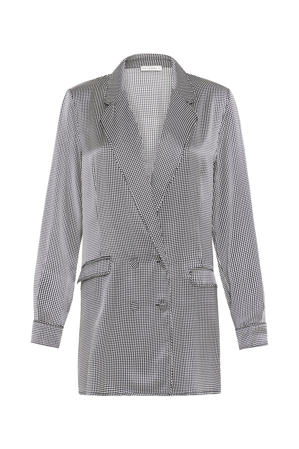 RELAXED BLAZER HOUNDSTOOTH