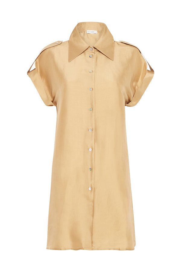 DROP SHOULDER 60S DRESS CAMEL