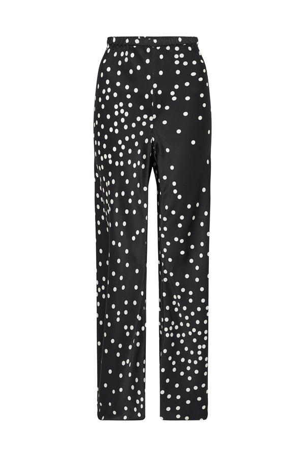 BIAS CUT PANTS BROKEN DOT