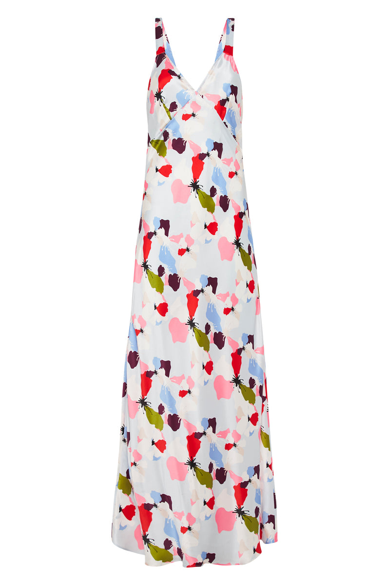 DECO SLIP DRESS FLOWERS