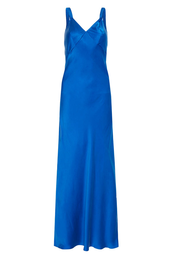DECO RUCHED DRESS COBALT BLUE