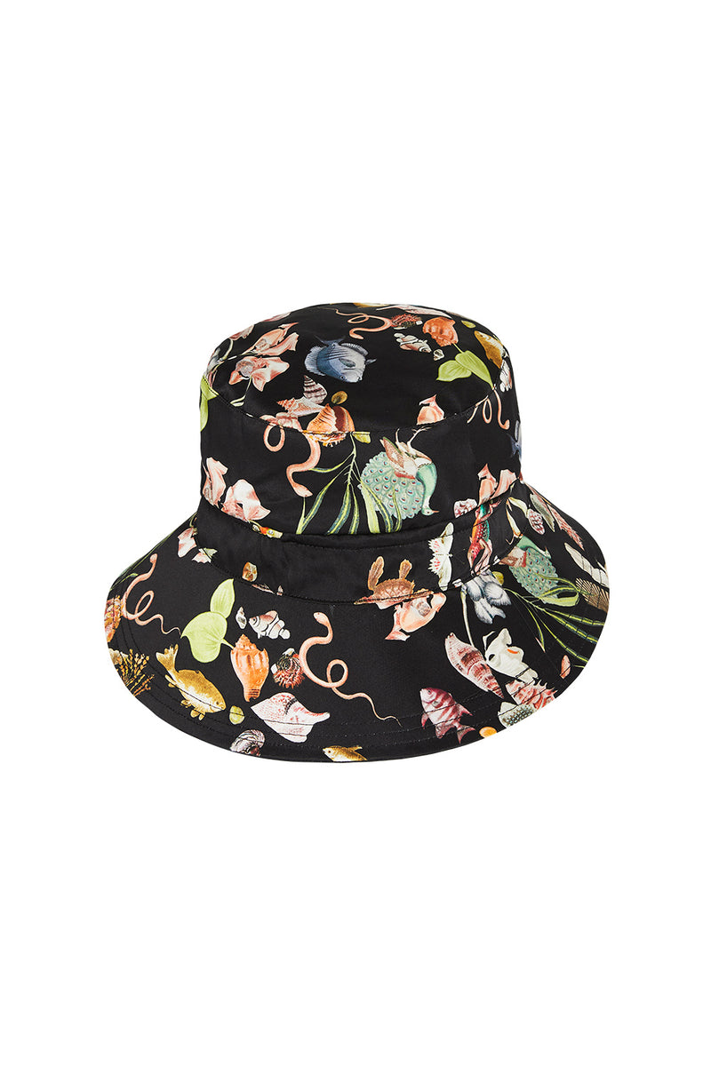 BUCKET HAT - ANAMALIA/BLACK