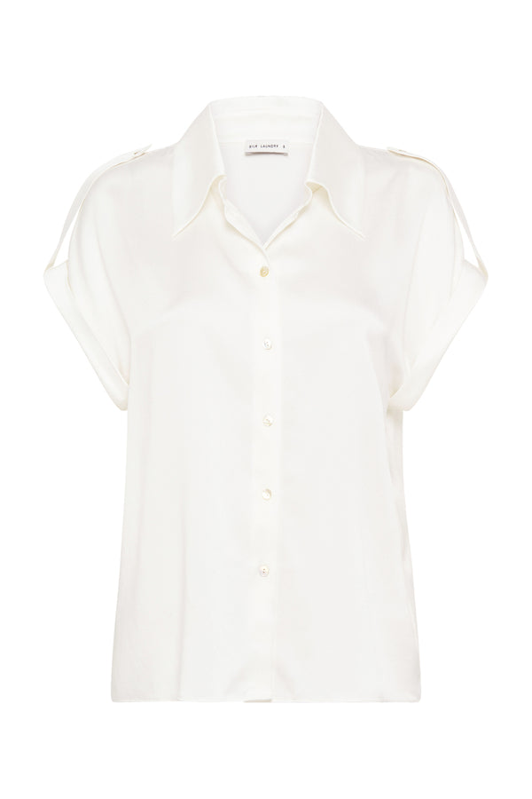 DROP SHOULDER SHIRT WHITE