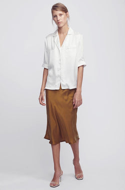 PIPED SHIRT WHITE