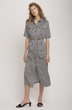 MILITARY DRESS HOUNDSTOOTH