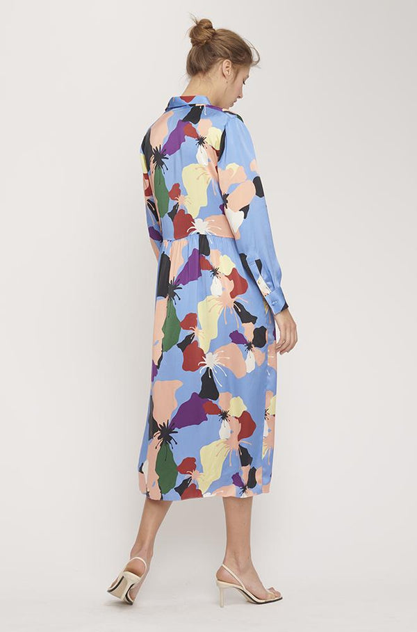 LONG BUTTON FRONT SHIRT DRESS WARHOL