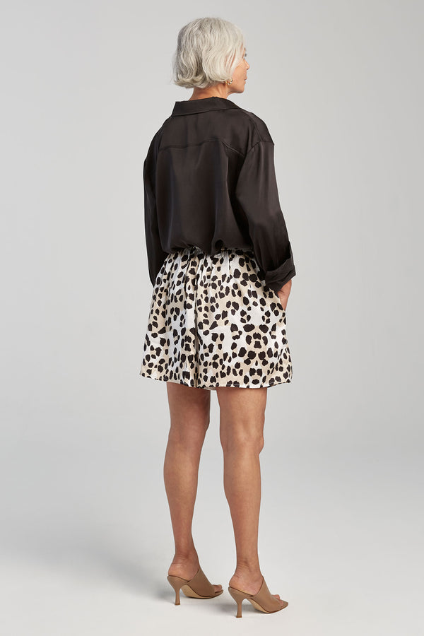SILK GATHERED SHORTS DE VIL