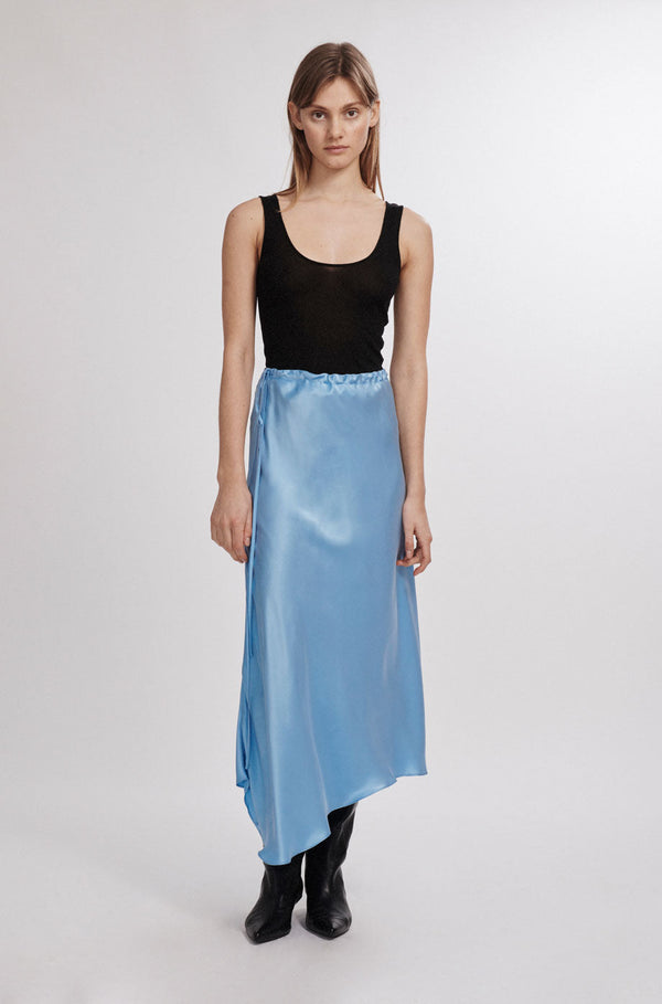 ASYMMETRIC SKIRT AIRY BLUE