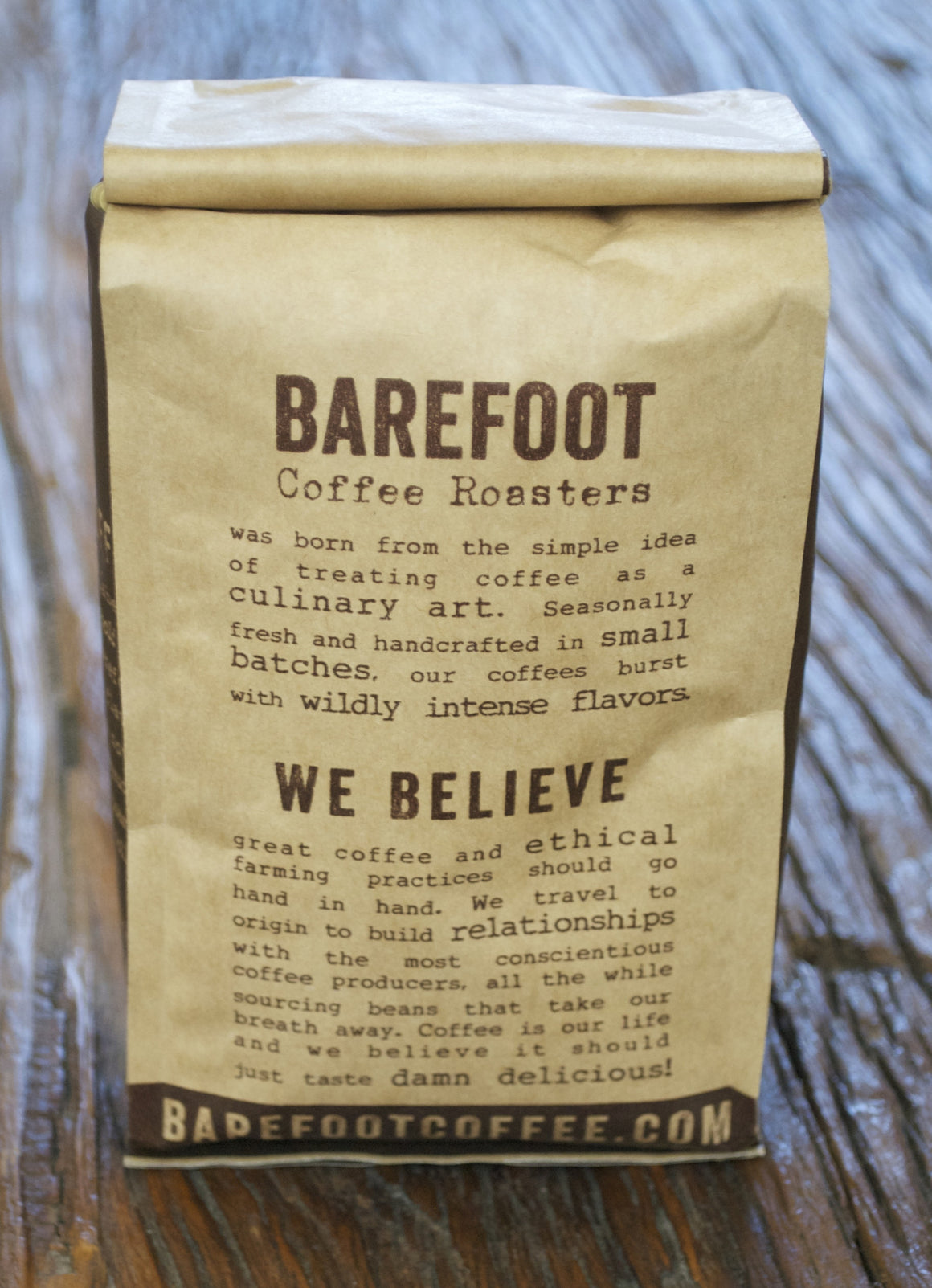 barefoot coffee bag