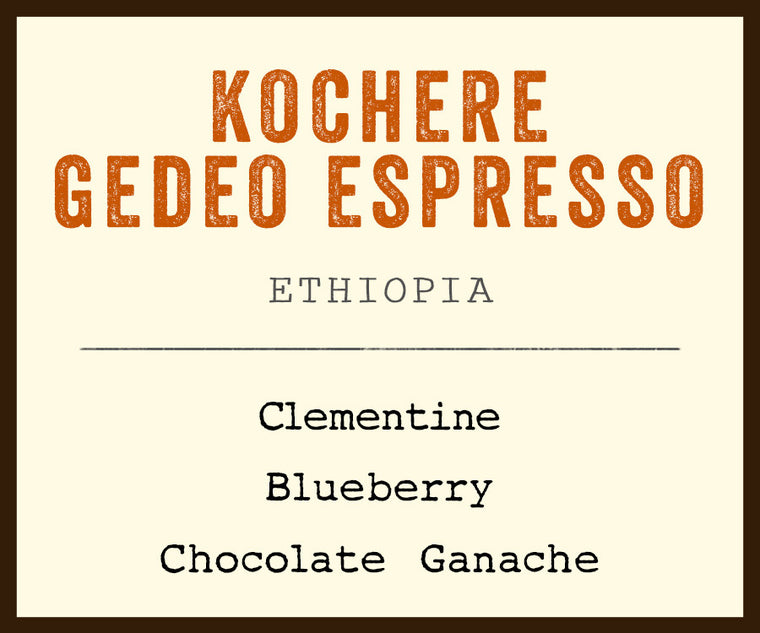 single origin espresso ethiopia yirgacheffe kochere