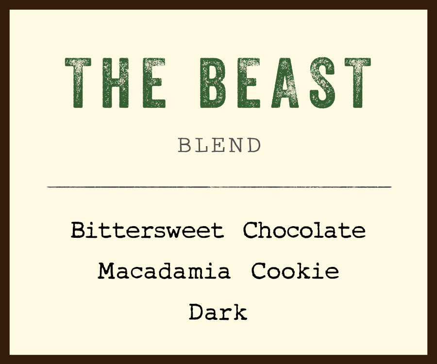 dark roast blend barefoot coffee the beast