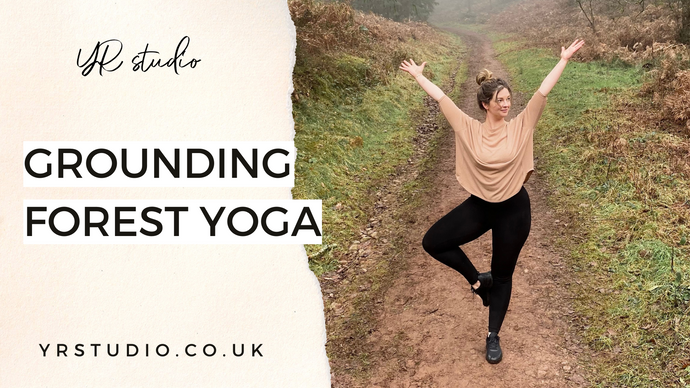 Grounding yoga poses in the forest
