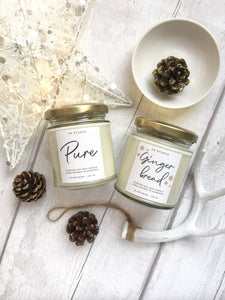 Pure unscented soy candle