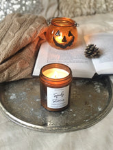 "Load image into Gallery viewer, ""Spooky Stories"" Halloween Patchouli soy candle - medium"