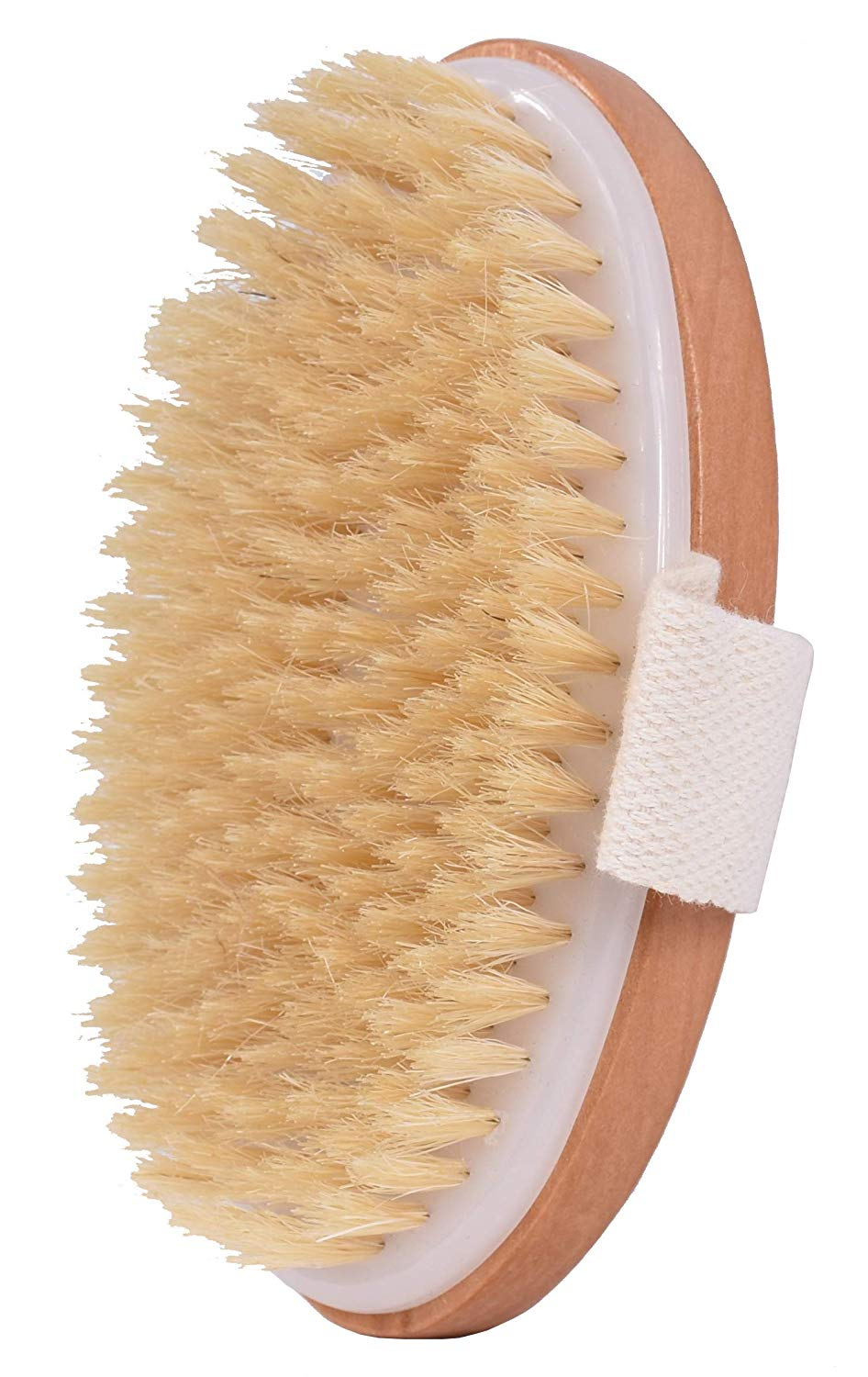 100% Natural Bristles Body Massager Improves Skin's Health Back Bath Scrubber Dry Bath Skin Body Brush