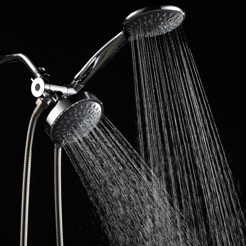 Premium High Pressure 3-Way Rainfall Combo for The Best of Both Worlds-Enjoy Luxurious Rain Showerhead and 6-Setting Hand Held Shower Separately or Together