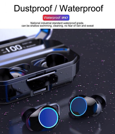 TWS Earbuds BT 5.0 Stereo wireless headphones earphones Touch Control LED Display IPX7 Waterproof Earphone With LED Display Power Bank Phone Holder TWS 5.0 Stereo Wireless Earphone