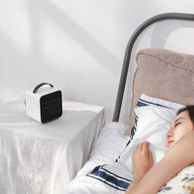summer hottest air cooler unique design Mini Portable Air Conditioner Negative ion water air cooling fan