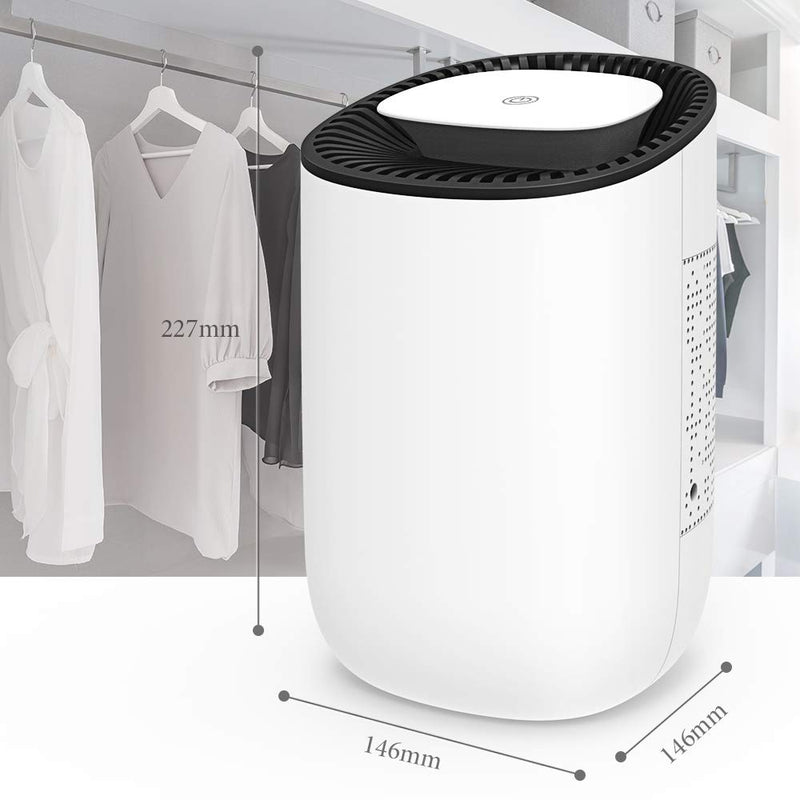 Quiet and Portable Dehumidifier Electric, Deshumidificador, Home Dehumidifier for Bathroom, Crawl Space, Bedroom, RV, Baby Room(600ml)