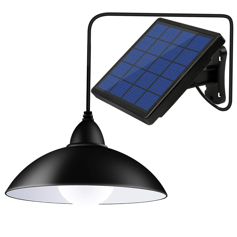 Solar Powered Pendant Lights, 12 LED (Equivalent to 50W Incandescent Brightness) Waterproof Remote Control Indoor Outdoor Hanging Lamp for Garden, Garage, Pathway, Yard, Patio, Lawn, Balcony