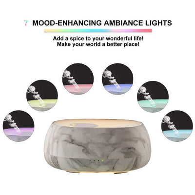 Appreciis 500 ml Aroma Diffuser Manufacturer Safe PP ABS Essential Oils Humidifier for Aromatherapy ,with 7 Colors LED Lights and Waterless Auto Shut-Off for Home Office Bedroom Room