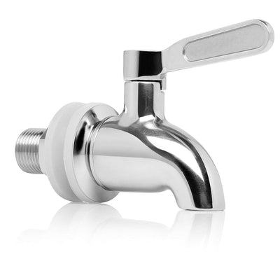 Beverage Dispenser Replacement Spigot, Stainless Steel Spigot Polished Finished, Dispenser Replacement Faucet