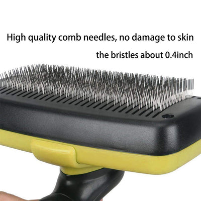 Dog Brushes,Self Cleaning Pet Grooming Brush- Removes 90% of Dead Undercoat and Loose Hairs,Suitable for Medium and Long Haired Dogs Cats