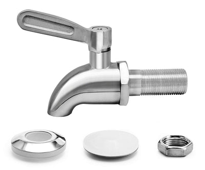 [Updated] More Durable Beverage Dispenser Replacement Spigot,Stainless Steel Polished Finished, Water Dispenser Replacement Faucet, fits Berkey and other Gravity Filter systems as well