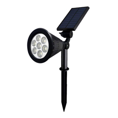 7 Led solar lawn light, waterproof IP65 high efficiency solar garden decoration led spot light wall lamp  2 Pack