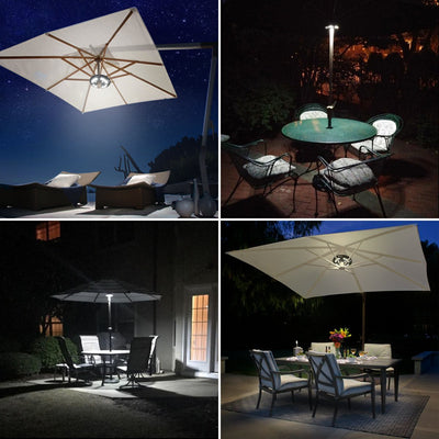 Patio Umbrella Light Warm White 3 Lighting Modes Cordless 24 LED Lights,4 AA Battery Operated Umbrella Pole Light for Patio Umbrellas Camping Tents or Outdoor Use