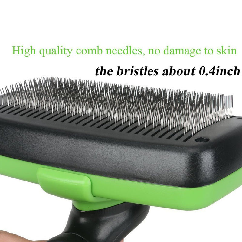 Pet Grooming Brush Self Cleaning Slicker Brushes for Dogs and Cats Long & Thick Hair Best Pet Shedding Tool for Grooming Loose Undercoat,Tangled Knots & Matted Fur