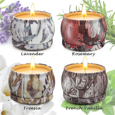 Scented Candles Gifts Set for Women Aromatherapy Candles Stress Relief, Upgraded Large Tin of Soy Candle Scented Lavender Candle, Gifts for Women Birthday Gifts