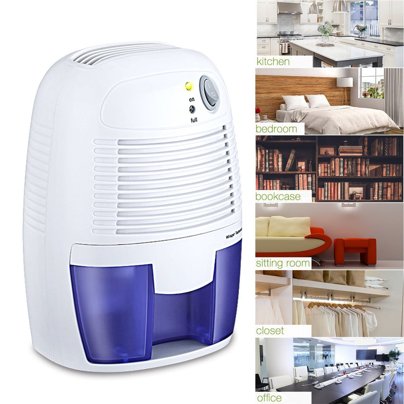 Electric Mini Dehumidifier, 1200 Cubic Feet (150 sq ft), Compact and Portable for High Humidity in Home, Kitchen, Bedroom, Basement, Caravan, Office, Garage