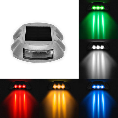 Driveway Lights Solar LED Deck Lights Dock Lights Step Lights Outdoor Waterproof for Driveway Deck Garden Ground Path Yard