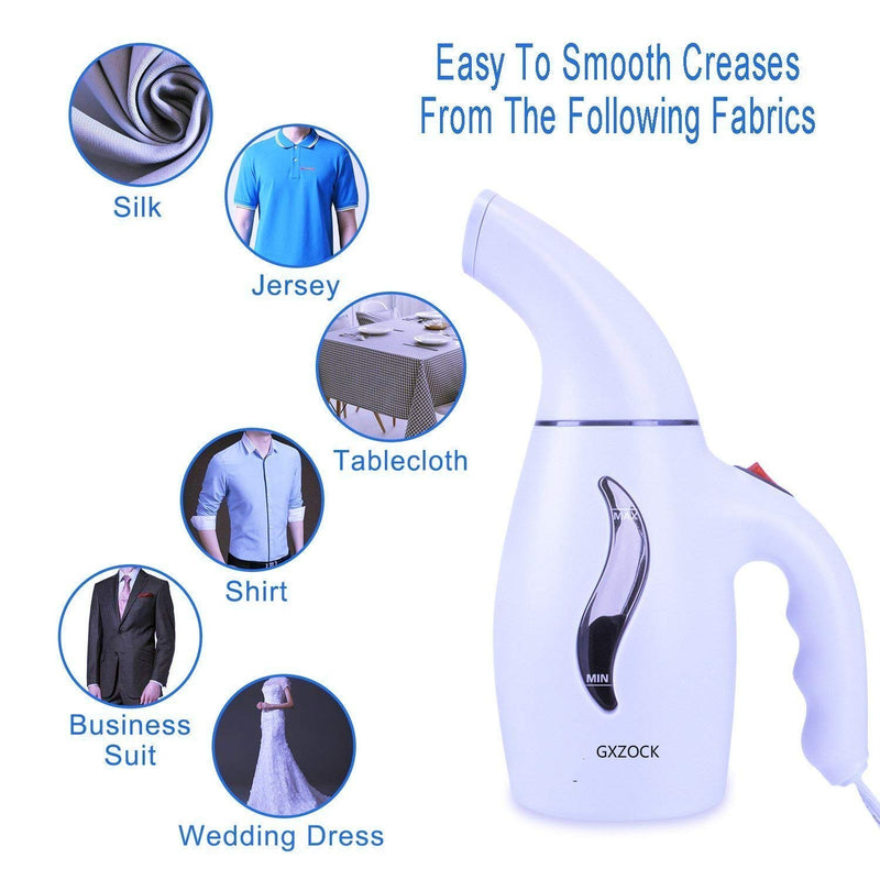 Garment Steamer 180ml Portable Handheld Fabric Steamer Fast Heat-up Powerful Travel Garment Clothes Steamer with High Capacity