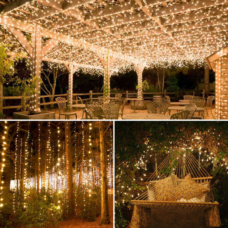 Upgraded Solar Powered String Lights, 100 LED Copper Wire Lights, Fairy Lights, Indoor Outdoor Waterproof Solar Decoration Lights for Gardens, Home, Dancing, Party, Christmas