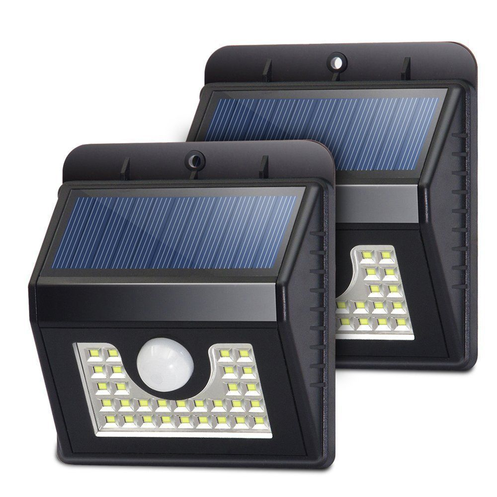 SOLAR LIGHTS OUTDOOR 30 LEDs, Super Bright Motion Sensor Lights with Wide Angle Illumination, Wireless Waterproof Security Light