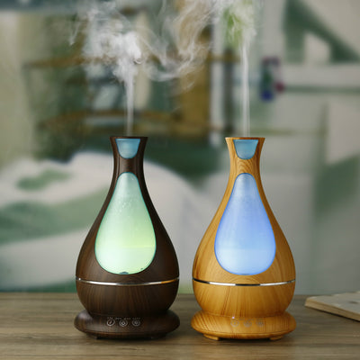 Essential Oil Diffuser, 400ml Wood Grain Aromatherapy Diffuser Ultrasonic Cool Mist Humidifier with Color LED Lights Changing
