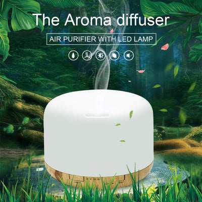 Aromatherapy 500ML Essential Oil Diffuser Humidifier Ultrasonic Cool Air Mist Humidifier with Auto Shut-off